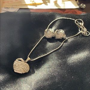 Gorgeous heart necklace and earrings